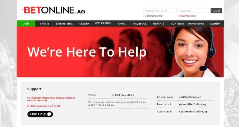 BetOnline Customer Support