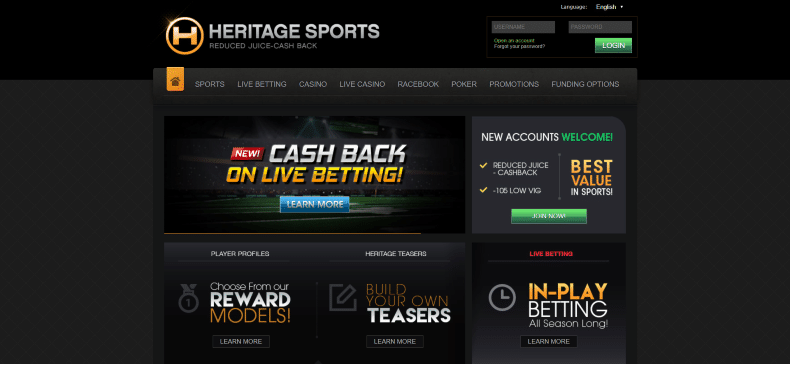 Heritage Sports Home Page