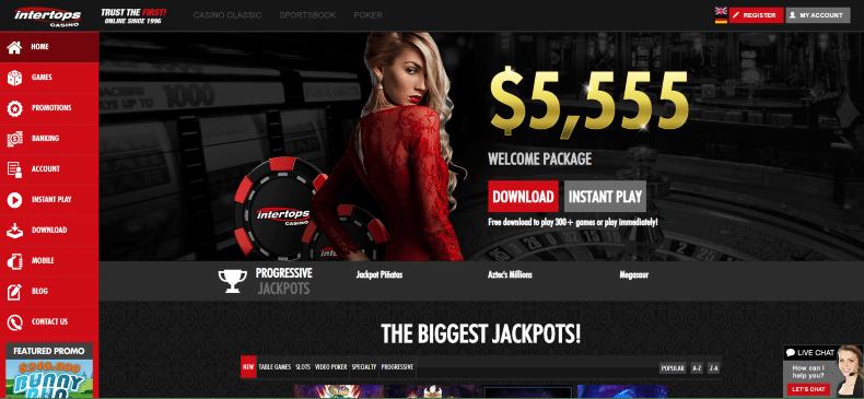 Intertops Casino Bonuses