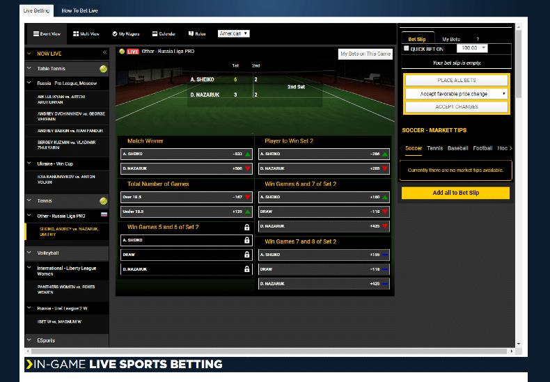 SportsBetting.ag Live Betting