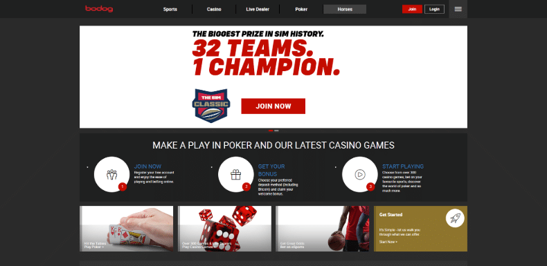 Bodog Home Page